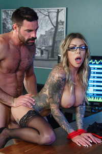Karma Rx Fucks In Bondage Office Sex