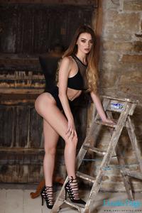 Emelia Paige In Black Underwear