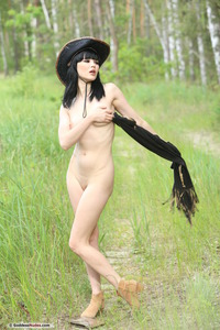 Malena Strips To Naked In The Nature