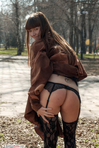 Hot Red Eva Public Striptease In Moscow