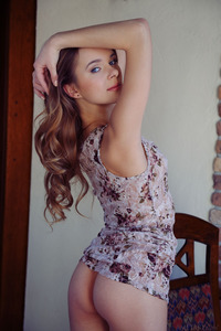 Russian Teen Katie A Stripping Down Completely Nude