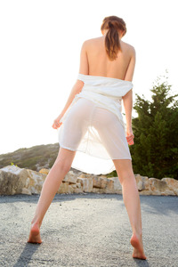 Alice May Undressing And Touching Herself On Road