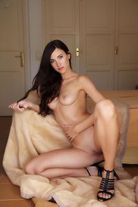 Slender Teen Lauren Crist Is Posing Naked On Sofa