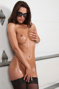 Jennifer Rain in the garage