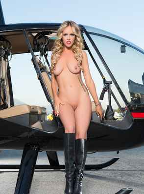 Nude Heidi Michel At A Local Airstrip