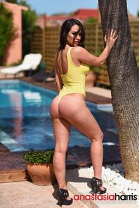 Anastasia Harris Strips Outdoors