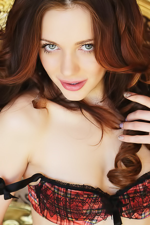The Ukrainian Sex Kitten Niki Mey Looks Completely Stunning In Black Lingerie picture gallery