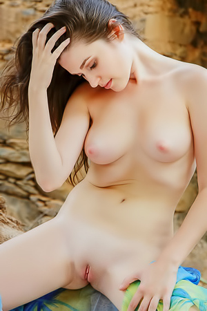 Serena Wood Is Naked In The Forest