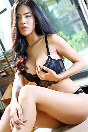 Beautiful Thai Babe Arya Stripping