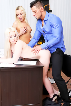 Threesome Sex With Office Girl Anna Ray