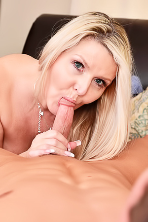 Blonde Mature Velvet Skye Fucks With Young Guy