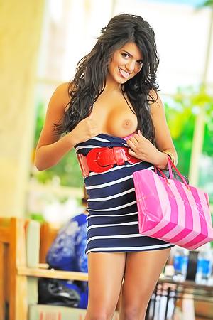 Sexy Girl Trisha At Shopping Mall