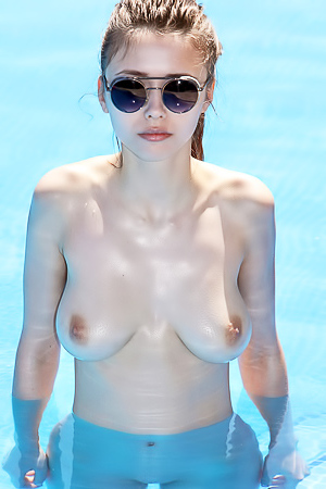 Mila Azul Stripping Outdoors