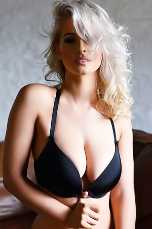 Jess Davies Showing Off In Her Black Lingerie