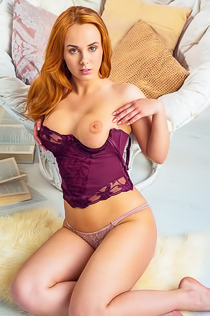Busty Redhead Vos Tempts Us With Her Fabulous Body