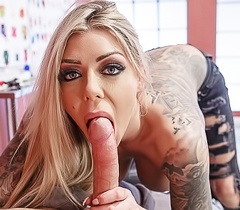 Busty Babe With Tattoos Karma Rx Deepthroats Big Dick