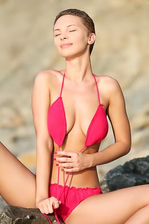 Glamorous Cecelia Wear Her Sexy Pink Bikini