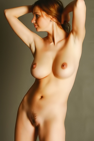 Naked Model Maria D. Doing Erotic Nude Art