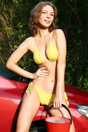 Galina A In Sexy Yellow Bikini