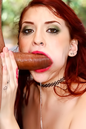 Dirty Redhead Slut Sucks