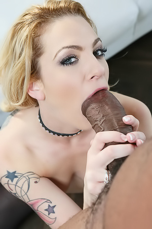 Horny Blonde Dahlia Sky Having Interracial Sex